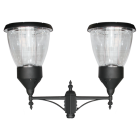 PL15 Solar Balmoral Post / Pole Top Light (Double Lampshade)