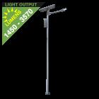 SL12 Solar 10W / 15W / 20W / 25W LED Street/Parking Lot Light (With Pole)