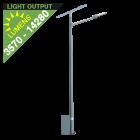 SL34 Solar 35W/65W/100W/135W LED Street/Parking Lot Light (With Pole)
