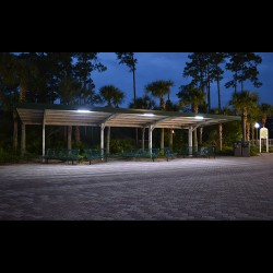 FL17 Solar Bus Shelter / Transit Light System (1 or 2 Fixtures)