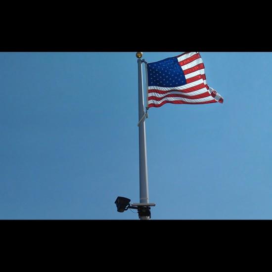 FL05 Solar 108 LED Flag Pole Light