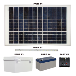 FL120 Solar Mini Light Bar Sign Light (1 Fixture)