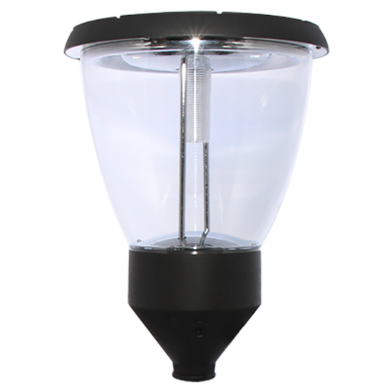 PO04 Solar Balmoral Single Lamp Post Light (With 10' Standard Pole)