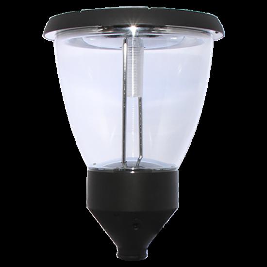 PO04 Solar Balmoral Single Lamp Post Light (With 10' Standard Pole)