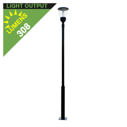 PO10 Solar Balmoral Single Lamp Post Light (With Heavy Duty 10' Pole)