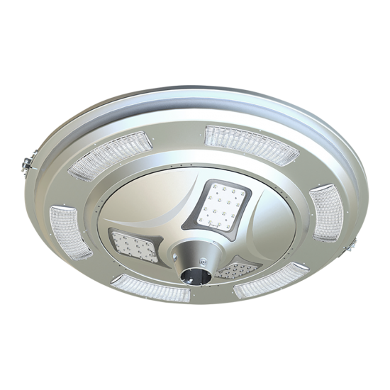 PO16 Solar 30W LED Area Light (With Pole)