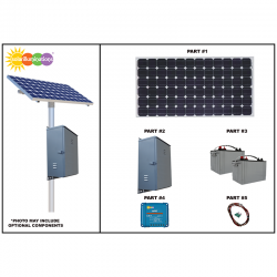 RS04 Remote Solar Power System - 500Wh/Day
