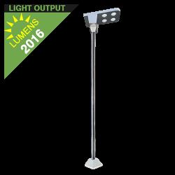 SL03 Solar 18W LED Street/Area/Parking Lot Light (With Pole)