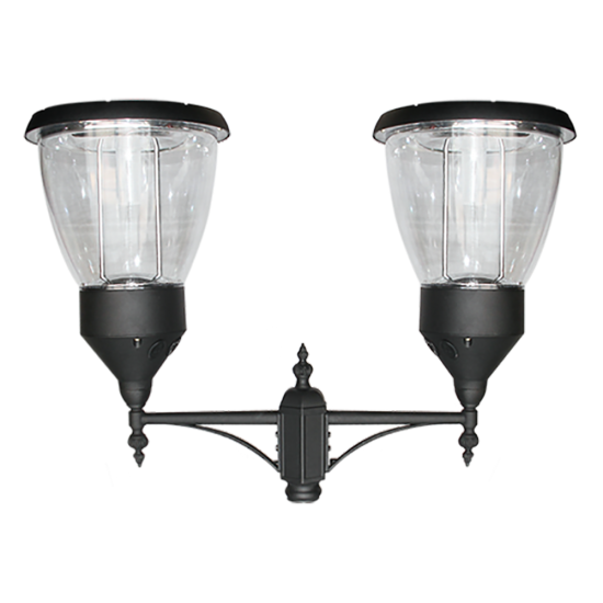 PO05 Solar Balmoral Double Lamp Post Light (With 10' Standard Pole)