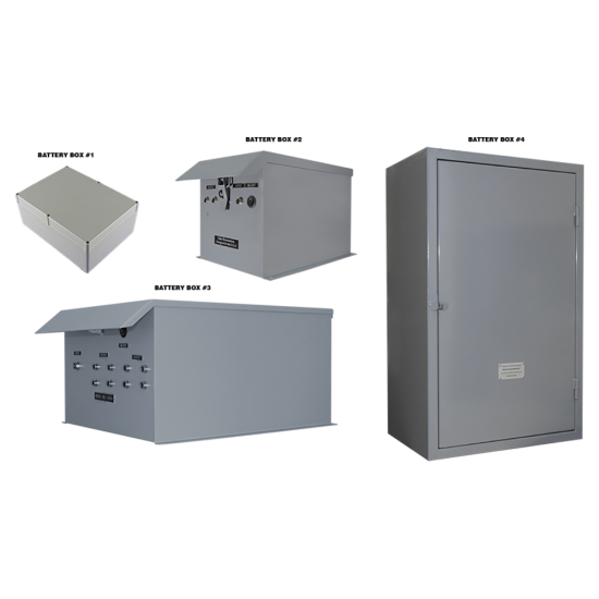 CD01 Selection of Battery Box Cabinets (For Custom Built Systems)