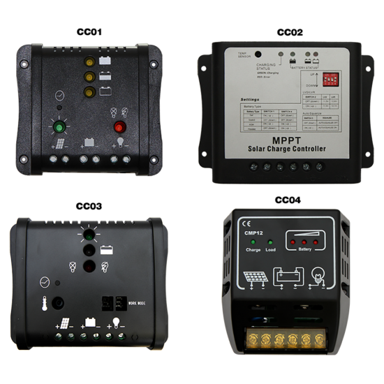 CD03 Selection of Solar Charge Controllers (For Custom Built Systems)