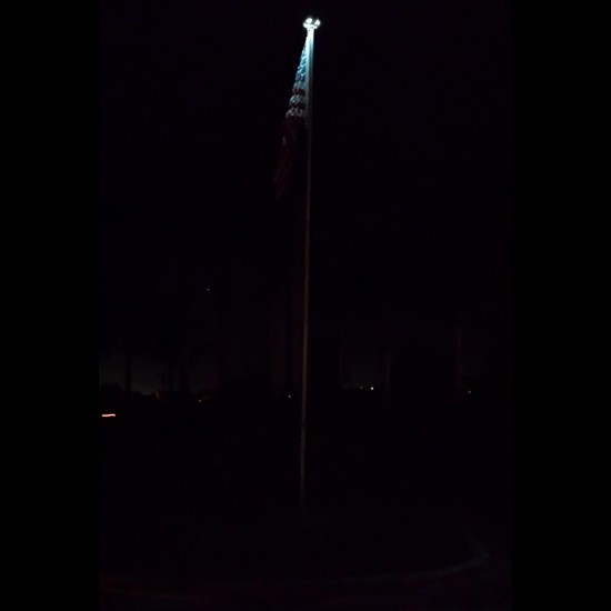FL50 Solar 20 LED Economy Flag Pole Light