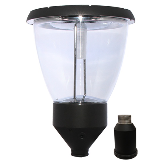 PL14 Solar Balmoral Post / Pole Top Light (Single Lampshade)