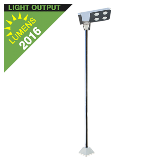 SL03 Solar 18W LED Street/Area/Parking Lot Light (With Pole)