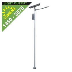 SL12 Solar Parking Lot Light (With Pole) 10W / 15W / 20W / 25W