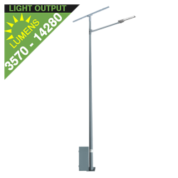 SL34 Solar Parking Lot Light (With Pole) 35W/65W/100W/135W