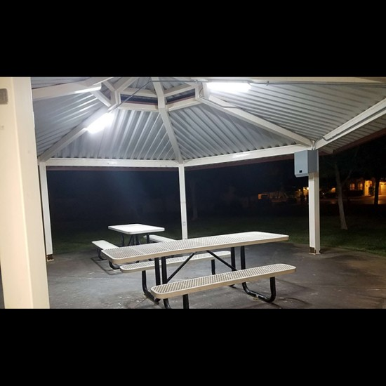 FL17 Solar Shelter / Covered Walkway / Canopy Light System