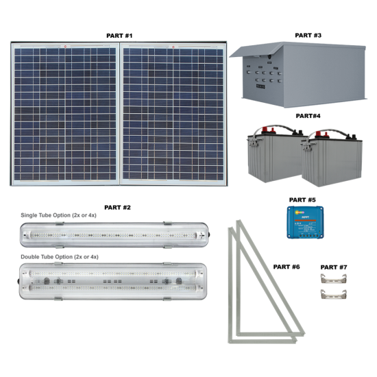 FL20 Solar Shelter / Covered Walkway / Canopy Light System (4 Fixtures)