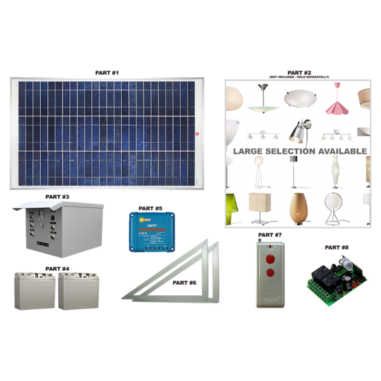 LK02 Solar Indoor Light System (Standard Lighting Kit)