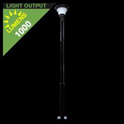 PO18 Solar Pole Top Light (With 10' Pole)