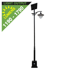 SL15 Solar 10W/15W/20W/25W/30W Street/Parking Lot Light (With Pole)