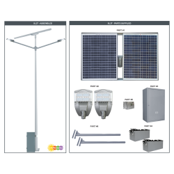 SL37 Solar Double 35W/65W LED Street/Parking Lot Light (Without Pole)