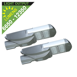 SL37 Solar Double 35W/65W LED Parking Lot Light (Without Pole)