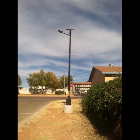 SL45 Solar 10W/15W/20W/25W/30W LED Street/Parking Lot Light (With Pole)